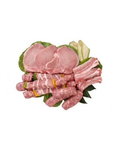 Caissette Barbecue de porc fermier 8 kgs